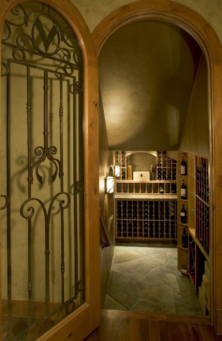 Interior design renovated wine cellar