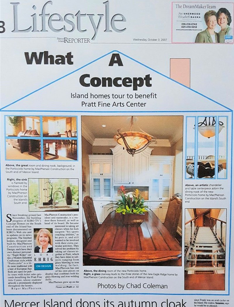 cover of lifestyle magazine featuring Dana Foster Interiors