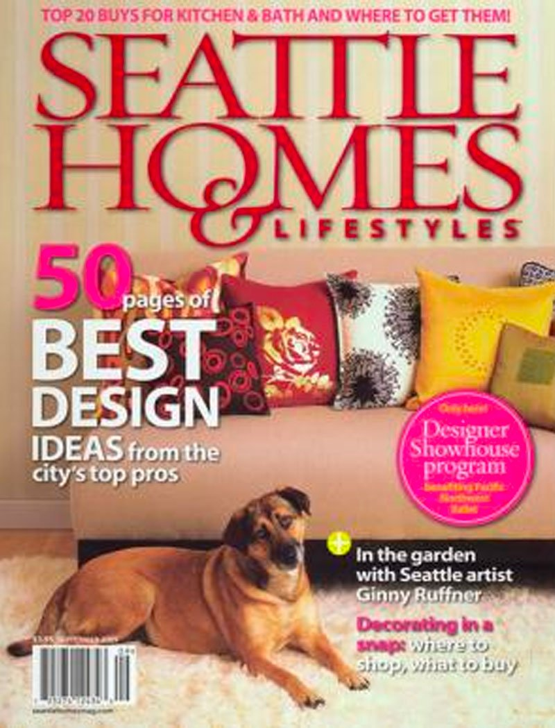 cover of seattle homes & lifestyles magazine featuring Dana Foster Interiors