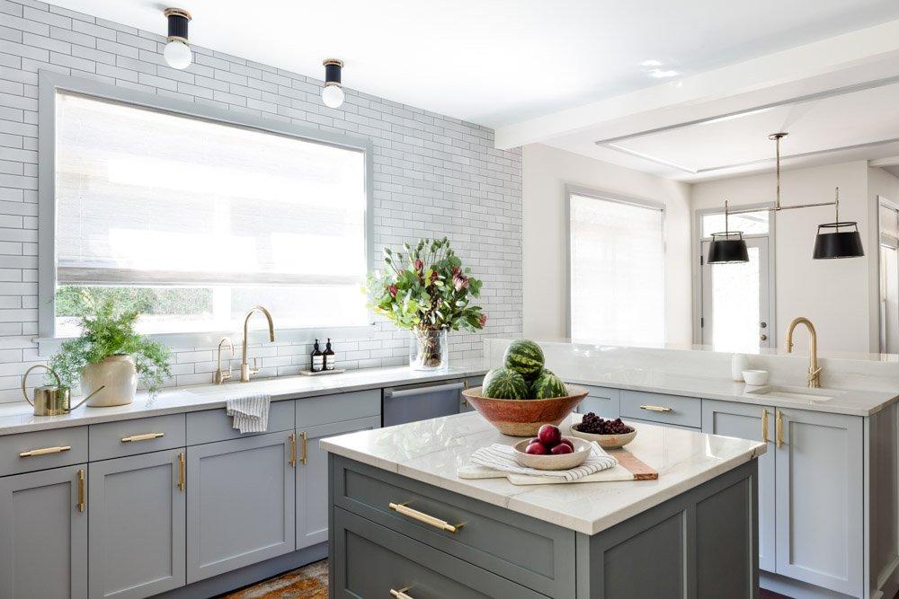 Renovated kitchen island